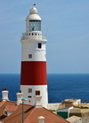 Gibraltar: Europa Point Lighthouse - southern end of the Iberian Peninsula, gateway between the Atlantic and the Mediterranean - Strait of Gibraltar - photo by M.Torres