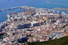 Gibraltar: old town and the reclamation areas - Bay of Algeciras - photo by M.Torres
