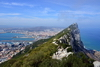Gibraltar: ridge of the Rock, the town, the airport, La Linea and the East coast - Upper Rock Nature reserve - photo by M.Torres