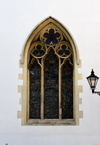 Gibraltar: King's Chapel, the garrison church - Gothic window - Convent Place, Main Stree - photo by M.Torres