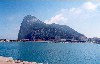 Gibraltar: the Rock from La L�nea de la Concepci�n - West Side town area (photo by Miguel Torres)