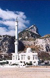 Gibraltar: Mosque on the edge of Europe - Great Europa Point / Punta Grande de Europa - photo by Miguel Torres