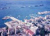 Gibraltar: harbour and Algeciras bay - also Coaling island, detached mole and south mole - photo by Miguel Torres