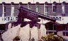 Gibraltar: the cannon that could shoot downwards - depression gun carriage, a late 18th century military development that was invented in Gibraltar during the Great Siege - background: the Health Centre - photo by Miguel Torres