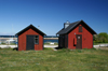 Gotland island - Lickershamn: fishing village - red huts - photo by A.Ferrari