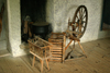 Gotland island: spinning wheel - old house - photo by C.Schmidt