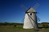 Fårö island, Gotland, Sweden - Broa: old stone windmill - rear wheel - photo by A.Ferrari