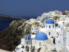 Greek islands - Santorini / Thira: blue domes - photo by A.Dnieprowsky