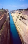 Greece - Corinth / Korinthos / Corinto (Peloponnese): on the Corinth Canal (photo by Miguel Torres)