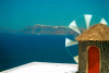 Greek islands - Santorini / Thira: windmill - photo by D.Smith