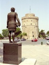Greece - Thessaloniki / Salonika / Salonica / Thessalonika (Makedonia / Macedonia) : warrior and the White Tower - photo by M.Bergsma