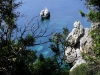 Greek islands - Corfu / Kerkira: rocky coast - photo by A.Dnieprowsky