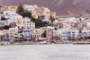 Greece - Naxos: houses by the harbour - photo by D.Smith