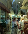 Greek islands - Corfu / Kerkira: busy night time - street in Kerkira town (photo by D.Jackson)