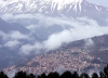 Greece - Metsovo (Epirus / Ipiros province): seen through the clouds - photo by G.Frysinger