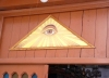 Greece - Ioannina / Yannina / Janina (Epirus / Ipiros province): masonic symbols - the great architect's eye - photo by G.Frysinger