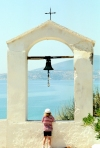 Greece - Koroni (Peloponnese): bell with a view - photo by T.Marshall