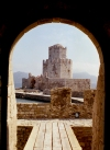 Greece - Koróni ( Peloponnese): Bourzi tower from the Venetian fortress - photo by T.Marshall
