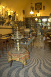 Greece, Rhodes, Old Town:the interior of an old-style, Turkish era coffee shop in the Old Town - photo by P.Hellander