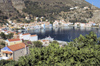 Greece, Kastellorizo: theexpansive harbour of Kastellorizo is framed by fig trees - photo by P.Hellander