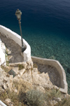 Greece, Dodecanese islands,Kastellorizo: steps lead down to azure waters at a private beach - photo by P.Hellander