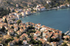 Greece, Dodecanese islands,Kastellorizo: the harbour of Kastellorizo from a high vantage point - photo by P.Hellander