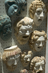 Greece, Rhodes: plastermasks in a shop in Rhodes' Old town - photo by P.Hellander