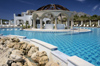 Greece, Rhodes: the poolat the Lindian village Rhodes' top luxury hotel - photo by P.Hellander