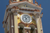 Greece, Dodecanese Islands, Symi island - Panormitis: Monastery of the Archangel Michael - the clock - photo by P.Hellander
