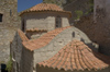 Greece, Dodecanese Islands,Tilos island: the roofs of the church of Agios Panteleimon - photo by P.Hellander