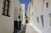 Greece, Dodecanese Islands,Nisyros: whitewashed street in the village of Nikia - photo by P.Hellander