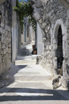 Greece, Dodecanese Islands,Nisyros: almost deserted street in the village of Emborios - photo by P.Hellander