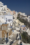 Greece, Santorini, Oia:the hanging clifftop village at sunset - photo by P.Hellander
