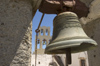 Greece, Dodecanese, Patmos:church bell inside the monastery of St John in Hora - photo by P.Hellander