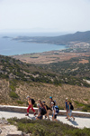 Greece - Paros: a group of hikers approcahing the entrance to the Cave of Antiparos - photo by D.Smith