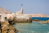 Greece - Paros: the ruins of the Venetian castle in Naousa town - photo by D.Smith