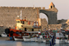 Greece - Rhodes island - Rhodes city - fishing boasts in the New Harbour - photo by A.Dnieprowsky
