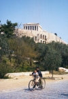 Greece - Athens / Athinai / ATH : children cycling under the Acropolis (photo by M.Torres)
