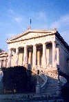 Greece - Athens / Atenas / ATH: the National Library - pediment - photo by M.Torres
