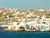 Greek islands - Mykonos (Hora) / Mikonos / JMK: Mykonos: balconies over the sea (photo by Aurora Baptista)