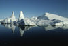 Greenland - Ilulissat / Jakobshavn - icebergs' reflection - Jakobshavn Glacier, part of Ilulissat Icefjord - photo by W.Allgower