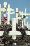 Greenland - Ilulissat / Jakobshavn - cemetery - crosses - photo by W.Allgower