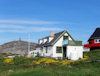 Greenland - Nuuk / Godthab: cottage with solarium and sun deck - Colony Harbour  - photo by B.Cloutier