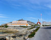 Greenland - Nuuk / Godthab: Community house, Hans Egede monument and Church of Our Saviour - photo by B.Cloutier