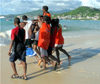 Grenada - Grand Anse - kids on the beach - photo by P.Baldwin