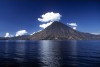 Guatemala - Lake Atitlan (Solola department): seen from Panajachel with the San Pedro volcano (photographer: Mona Sturges)