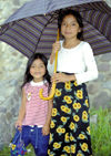 Guatemala - Lago de Atitlán: umbrella sisters (photo by A.Walkinshaw)