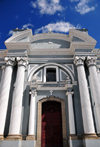 Ciudad de Guatemala / Guatemala city: main gate of San Francisco Church - Latin phrase 'Deo optimo maximo', 'the greatest and best God' - Iglesia de San Francisco - photo by M.Torres