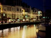 Channel islands - Guernsey / GCI: St. Peter Port - harbour front at night (photo by T.Marshall)