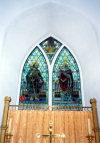 Channel isles - Guernsey: Torteval - Church window (photo by M.Torres)